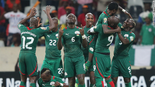Burkina Faso also went through to the last four, winning 1-0 against fellow first-time quarterfinalists Togo. An extra-time header from Jonathan Pitroipa earned &quot;The Stallions&quot; a clash with Ghana.
