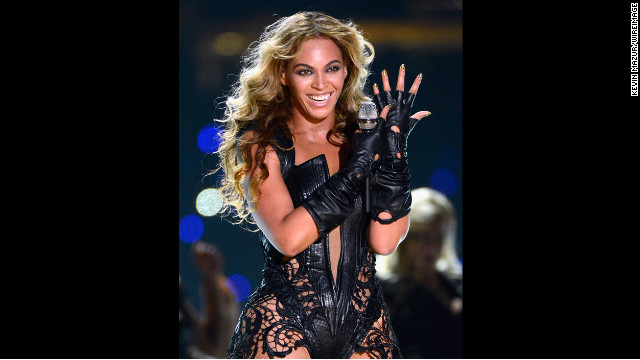 Beyonce performing one of her solo hits &quot;Single Ladies (Put a Ring On It).&quot;