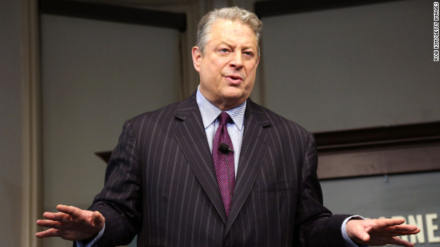 Former vice president Al Gore promotes his new book, 