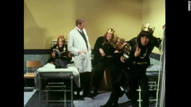 "The Monty Python comedy team gave us a whole room of Richard III's in the skit ""Hospital for Overactors."""