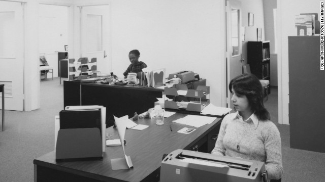 Like decades earlier, most women today work as secretaries.