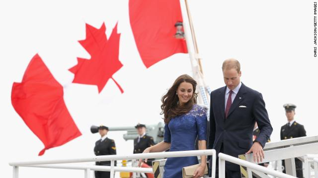 Prince William and the Duchess of Cambridge are pictured on July 3, 2011 in Quebec, Canada, on their first joint overseas tour.
