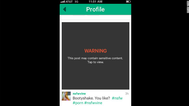 It didn't take long for the new Vine mobile app to be used for sexually explicit video clips.