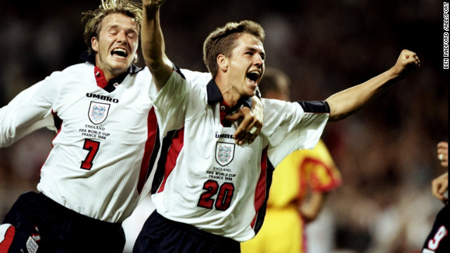Owen burst onto the football scene as a teenager at Liverpool and was the star of England's World Cup team in 1998. He scored against Romania in a group game before his stunning solo effort against Argentina. England lost the