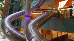 The Changi Airport fun slide.