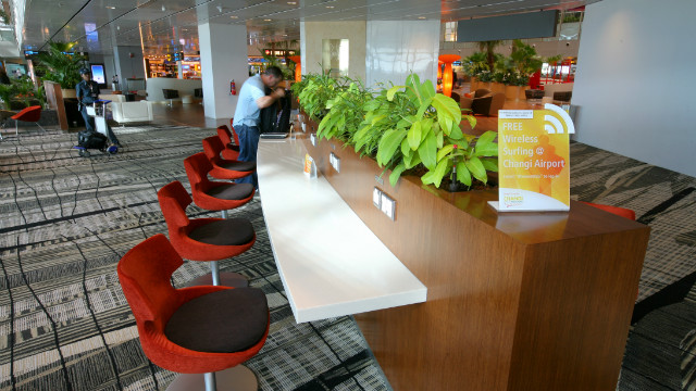 Changi was one of the first airports to introduce a free Wi-Fi area.