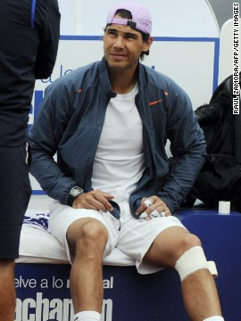 Nadal has had problems with his knees for much of his career. His latest absence was caused by an injury to the left one, which required surgery.