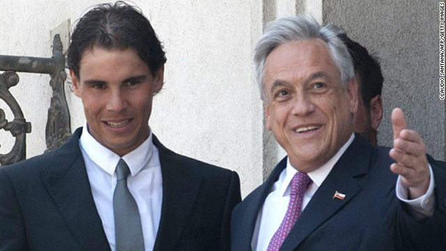 He was received by Chilean president Sebastian Pinera ahead of his debut appearance at the Vina del Mar Open.