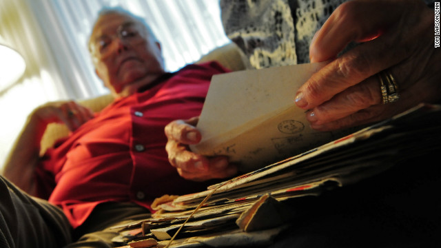 "Last fall, a man tracked down the Michaels after coming across their correspondence in his late father's things. ""He'd been a veteran himself, and he had a boy that had been in either Iraq or Afghanistan and had just returned home. So he knew what letters meant to him, his family -- the same thing,"" Lloyd said."