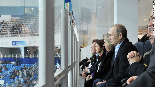 Russia's sports-loving president Vladimir Putin was a guest at the figure skating. &quot;They're putting in a lot of effort to make sure it will come off correctly, and Vladimir Putin showing up is a good sign about how important it is and how much they care,&quot; White told CNN. 