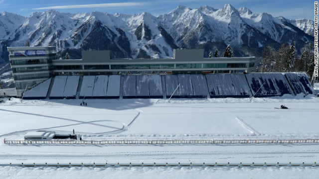 The shooting range will be used in the biathlon competitions. It hosted test events in late January 2013.
