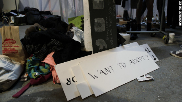 A photo booth at the event included handmade signs reflecting the company's vegan values. If attendees had questions about the use of animals in fashion, experts were available on site.