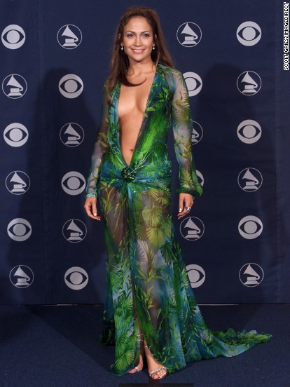 The green Versace dress that Jennifer Lopez wore to the 2000 Grammy Awards might be her most iconic look to date. &quot;Those fashion moments happen by mistake -- you can't plan things like that,&quot; Lopez has said of the risque ensemble. But daring looks like this may be a thing of the past if &lt;a href='http://marquee.blogs.cnn.com/2013/02/07/cbs-wants-grammys-talent-covered-up/' target='_blank'&gt;CBS gets its way&lt;/a&gt; this Sunday (February 10). Let's look back at the Grammys' most scandalous styles.