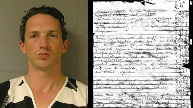 Israel Keyes' four-page note was found beneath his body in his Alaska jail cell.