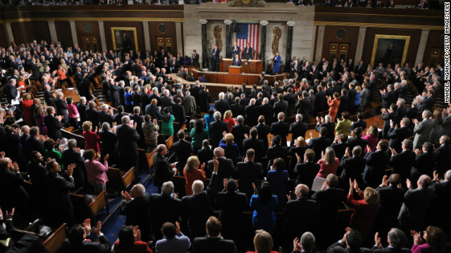 President Barack Obama delivered the State of the Union address to Congress in 2012. 