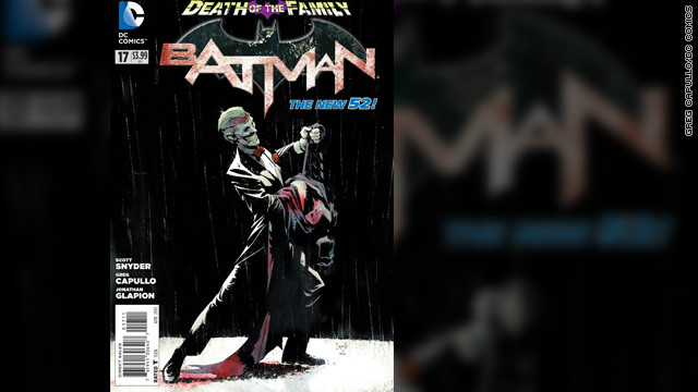 &quot;Batman&quot; #17, due out Wednesday, February 13, wraps up &quot;Death of the Family,&quot; a months-long story arc in all of the &quot;Batman&quot;-related comic books, in which The Joker has gone after Batman by threatening and capturing his friends and allies, members of his Bat-&quot;family.&quot; Writer Scott Snyder unleashes a climactic bombshell, a final confrontation between The Joker and the Dark Knight. (DC Comics is owned by Time Warner, which owns CNN.) The title of the story echoes 1988's &quot;A Death in the Family,&quot; which told the story of The Joker's brutal murder of the second Robin, Jason Todd. The following exclusive look at the first few pages of the story contains spoilers, as well as artwork which some might find disturbing.