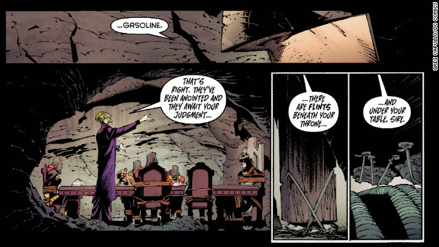 "The Joker has imagined himself as a ""king's"" (that is, Batman's) jester, but he's not too fond of the king's ""court"" of allies."