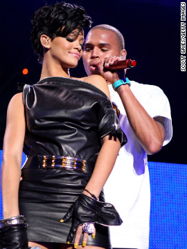 In December 2008, Brown and Rihanna performed onstage during Z100's Jingle Ball in New York.