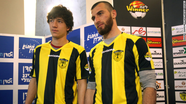 Dzhabrail Kadaev (left) and Zaur Sadaev were signed on January 26 by Beitar Jerusalem from Chechen side Terek Grozny. Both are Muslims.