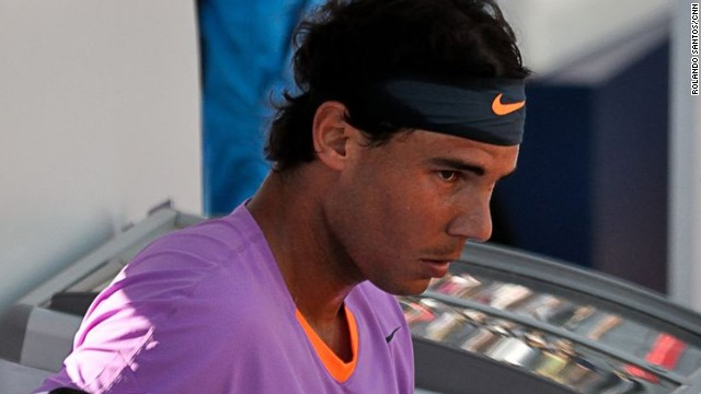 Nadal's first volleys were less than impressive and it was Delbonis that took the first two games. The world No. 5 was tentative and rusty.