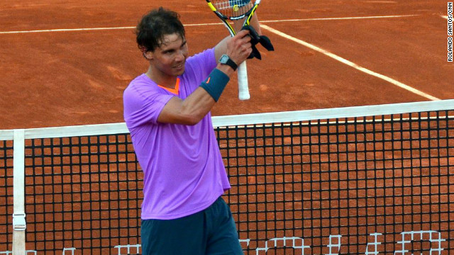 At the end of the match Nadal smiled, enjoying the applause and letting affection from the crowd and the moment sink in following his 6-3 6-2 win. He later went on to reach Saturday's semifinals.