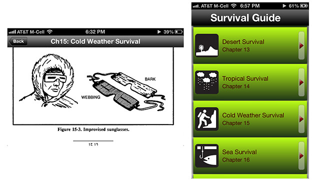 Hopefully you won't need any of the tips in this free iOS app, which is based on a U.S. military survival guide. <a href='https://itunes.apple.com/us/app/survival-guide/id407204621?mt=8' target='_blank'>Survival Guide </a>has an entire chapter on handling harsh winter weather, and tips starting a fire and catching your own food.