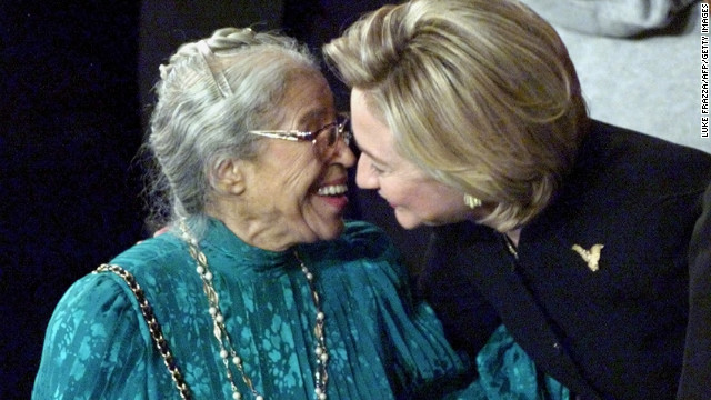 Rosa Parks was honored at Bill Clinton's 1999 State of the Union address.