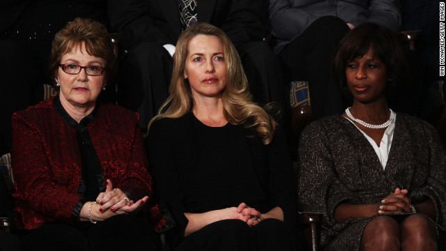 Warren Buffett's secretary, Debbie Bosanek, left, was one of President Barack Obama's guests at the 2012 SOTU.
