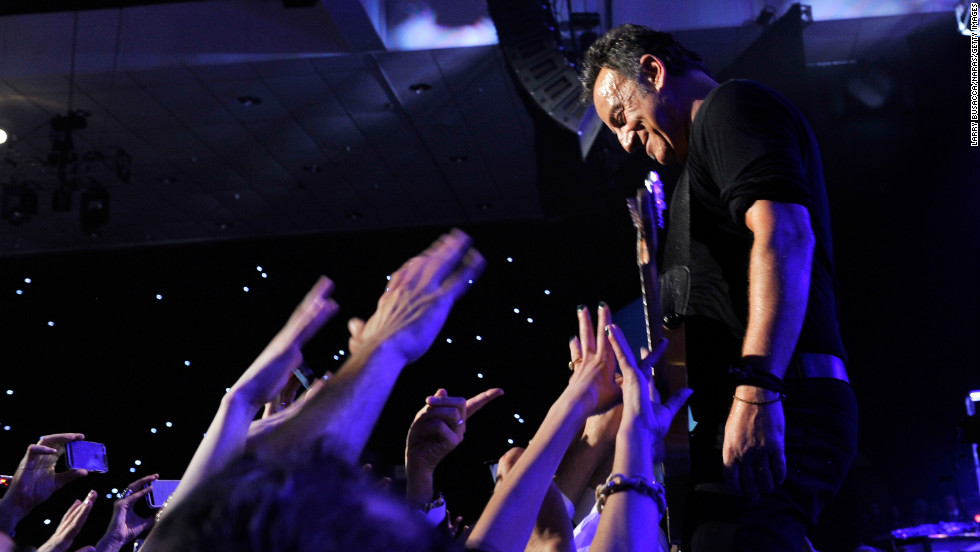 Honoree Bruce Springsteen performs onstage at MusiCares Person Of The Year Honoring Bruce Springsteen on Friday, February 8, in Los Angeles.