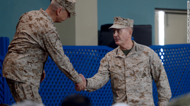 U.S. Marine general takes over NATO forces in Afghanistan