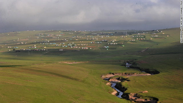 Nelson Mandela grew up in the village of Qunu. The house where he retired is located nearby.