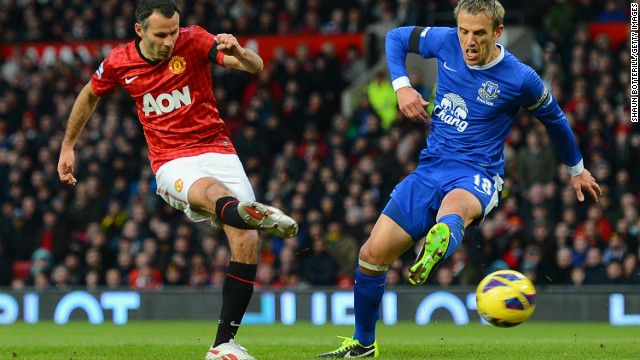 Veteran Ryan Giggs scored a 13th-minute opener, meaning the 39-year-old has now been on target for each of last 23 league seasons.