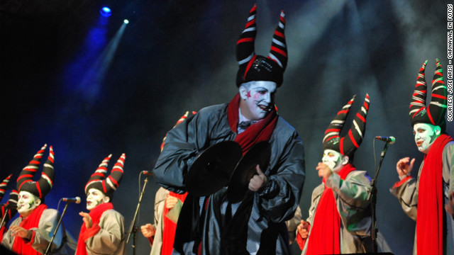 Murga Los Diablos Verdes put on a spirited show in Montevideo.