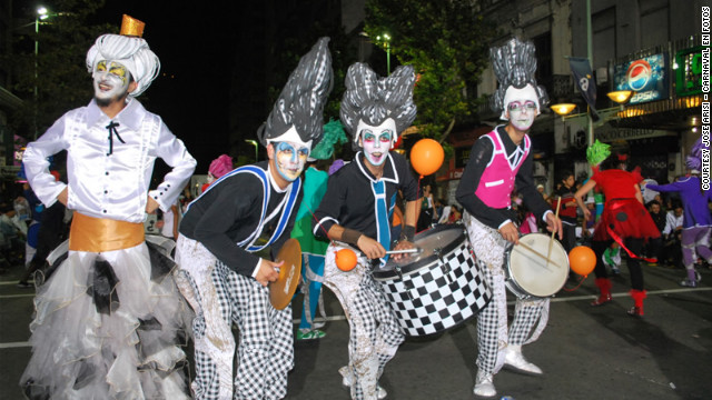 Murga Cayo la Cabra performs in Montevideo.&lt;!-- --&gt;