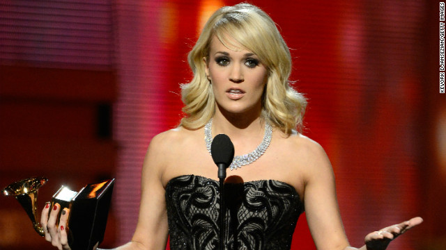 Carrie Underwood won best country solo performance for &quot;Blown Away.&quot; &quot;Country music has always been so good to me,&quot; said the &quot;American Idol&quot; alum, &quot;and I thank the good Lord that I'm part of such a wonderful, talented, amazing family.&quot;