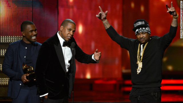 The Grammy for best rap/sung collaboration was awarded to Kanye West (who wasn't present), Jay-Z, Frank Ocean and The Dream for &quot;No Church in the Wild.&quot;