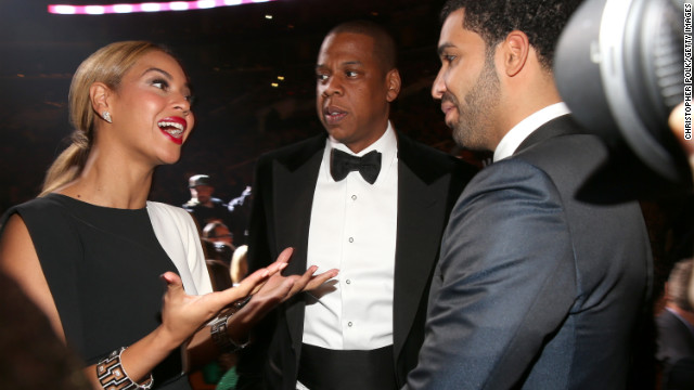 "Beyonce to Drake: ""You were brilliant on 'Degrassi: The Next Generation.' I've seen every episode.""<!-- --> </br>Jay-Z to himself: ""Since when?"""