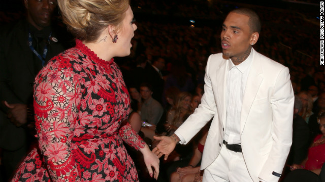Chris Brown to Adele: &quot;Your song 'Someone Like You' really speaks to me.&quot;