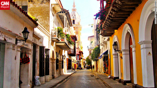 &quot;In Cartagena, I felt like I stepped back in time,&quot; said Monika Dudek, who shot this photo. &quot;The buildings are so old, yet many of them are so well preserved. It was a treat just to &lt;a href='http://ireport.cnn.com/docs/DOC-901028'&gt;walk the city's streets&lt;/a&gt;.&quot;