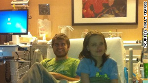 Boyfriend Eaker spends time with Pearce at the hospital.