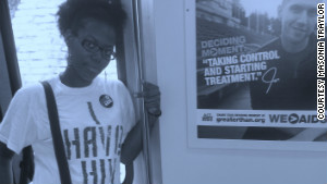 Masonia Traylor has become an advocate for HIV awareness.