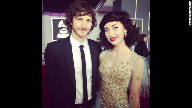 Look at Gotye and Kimbra. Little do they know that before the night is up, Prince is going to present them with the Grammy for record of the year.