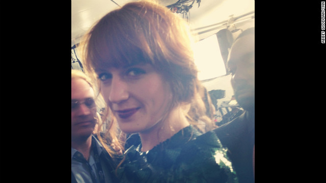 Florence Welch's gaze is as mesmerizing as her music. 