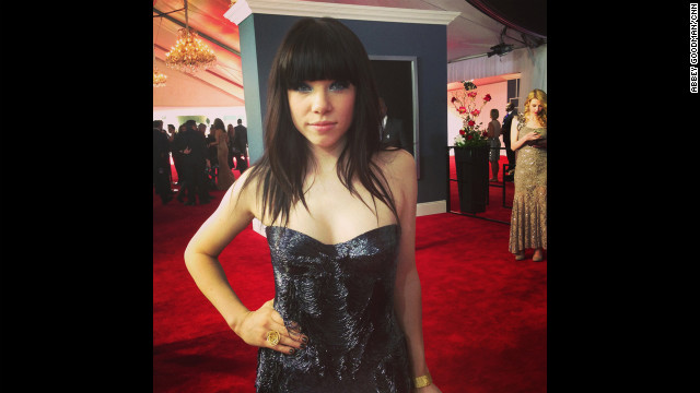No rock star 'tude here - Carly Rae Jepsen demonstrated her Canadian courtesy by arriving early for her first Grammys red carpet.