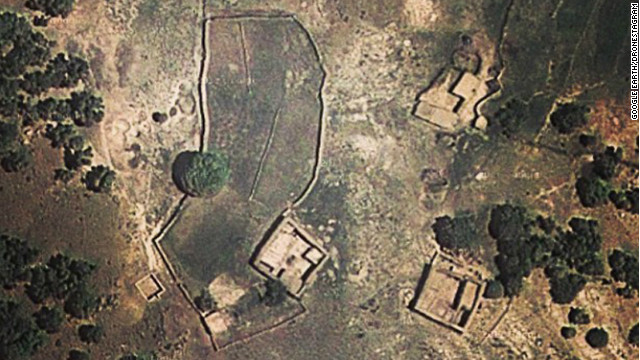 Dronestagram is a social-media effort to document, using Google Earth images, the locations of deadly U.S. drone strikes. This photo shows a pair of mud-built houses in northwest Pakistan where a drone strike was reported on February 8, according to Dronestagram. Local sources reported six drones hovering in the sky at the time of the attack, the site says.