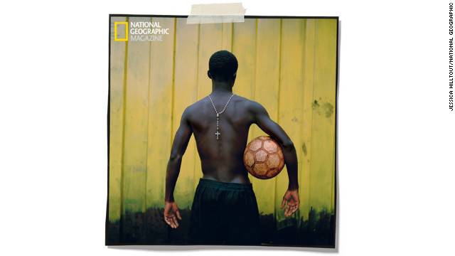 "In urban Kumasi, Ghana, factory-made balls aboutn. Michael Sarkodie holds one on the Anokye Stars field. Sani Pollux started the club in 1956. ""Soccer keeps them out of trouble,"" he says of the 150 boys he coaches."