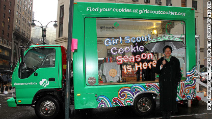 girl scout cookie truck