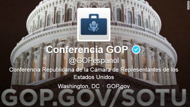 GOP tweets en Espaol