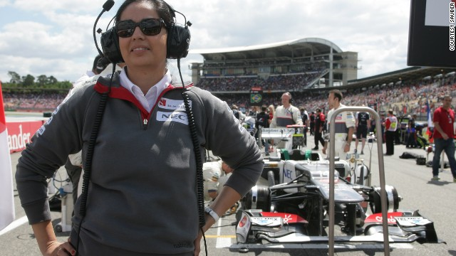 Monisha Kaltenborn, seen here at the German Grand Prix at Hockenheim in July 2011, is the first woman to become CEO and team principal of a Formula 1 team.