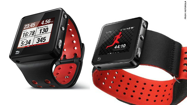 The $269 Motoactv smart watch is marketed as a fitness tracker. It acts as a heart-rate monitor and pedometer, has GPS and an MP3 player. There are also a number of nonwrist mount options, including a handlebar strap, arm band and chest strap.